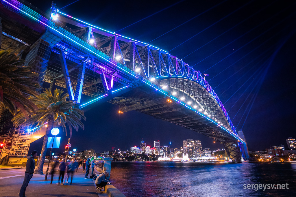 The Harbour Bridge.