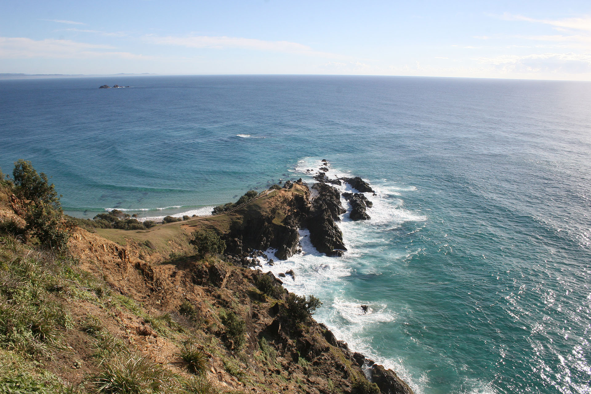 Cape Byron. Nothing but New Zealand beyond the horizon.