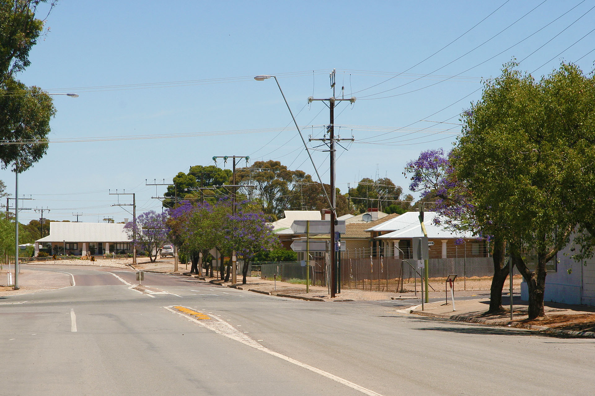 A typical outback town.