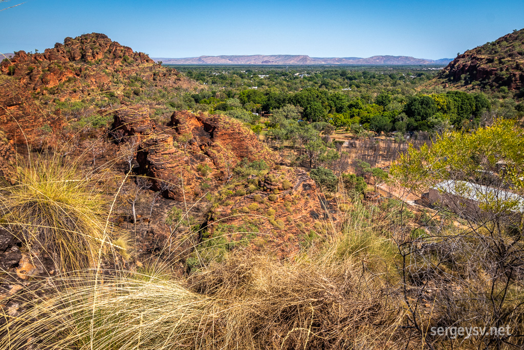 Looking over Kununurra.