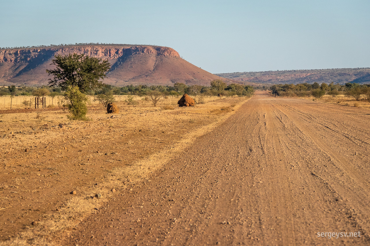 Last glance at the Kimberley's ancient hills.