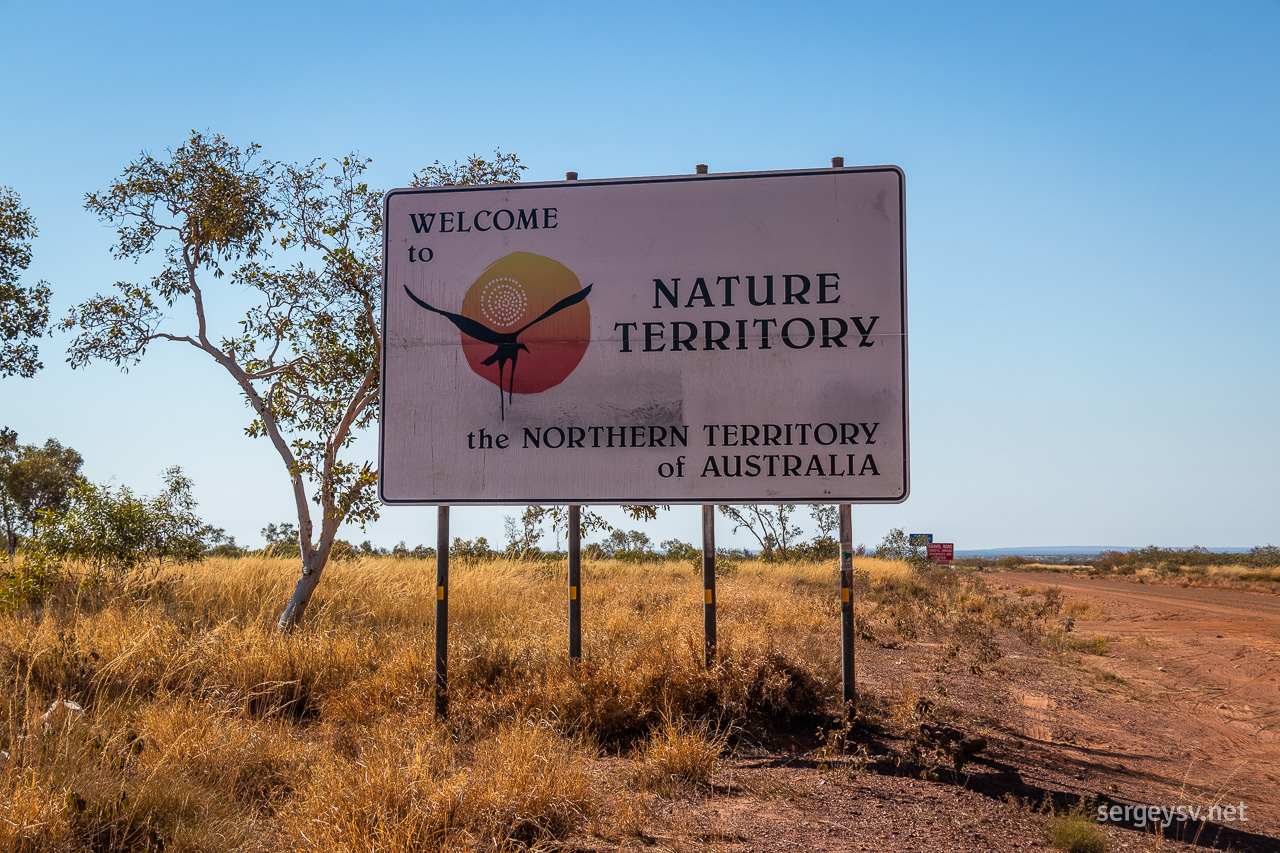Re-entering the Northern Territory.