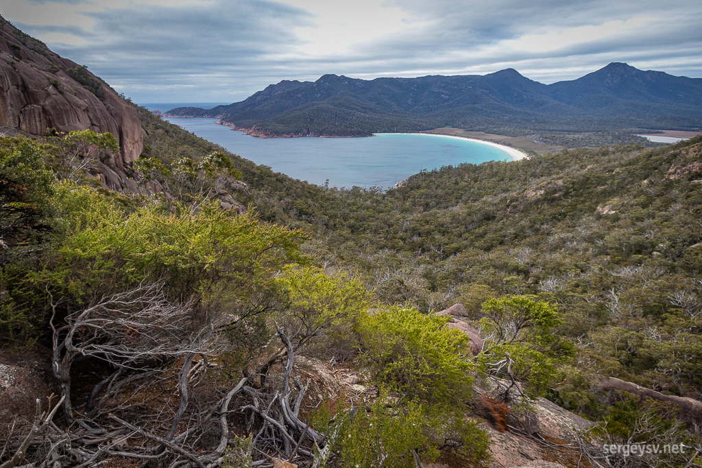 The Wineglass Bay.
