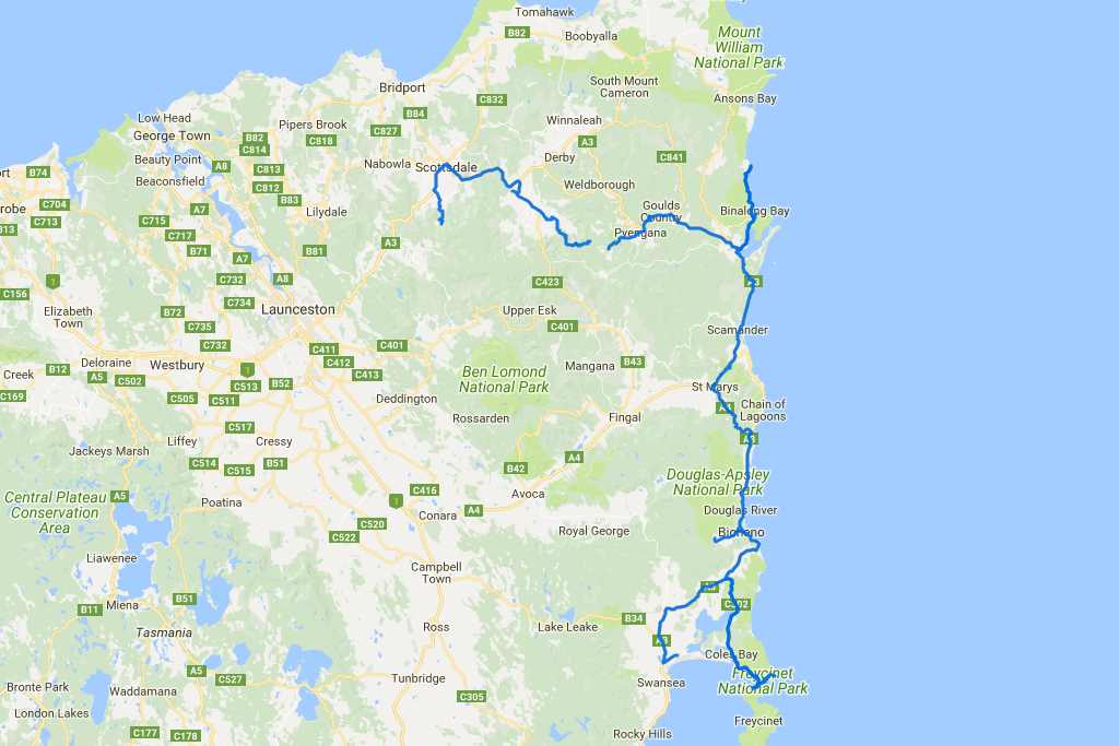 Distance covered: 355.2 km. The gap is where I forgot to switch my GPS tracker back on in time.